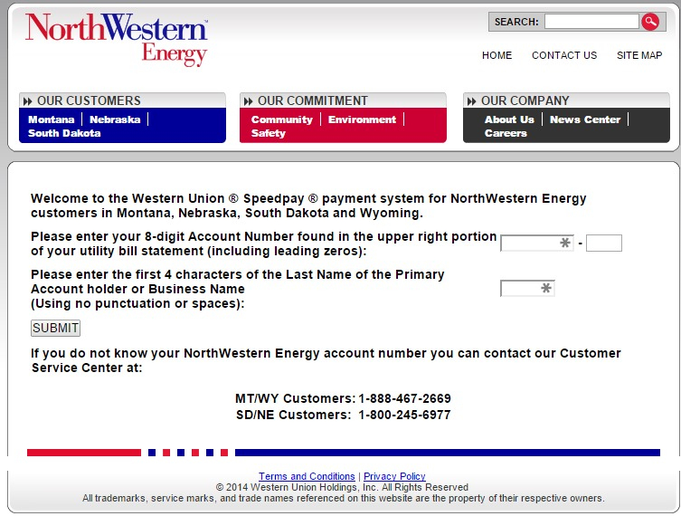 Credit Report Companies >> MyAccount.NorthWesternEnergy.Com Bill Pay Online - InformerBox