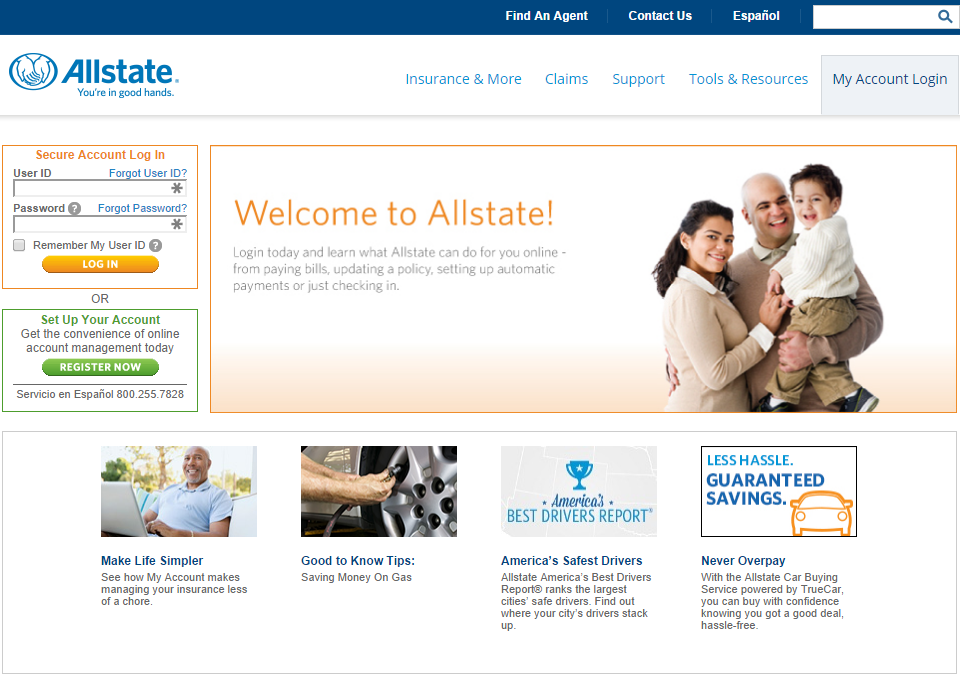 Allstate My Account >> Www Allstate Com Allstate Insurance Bill Pay