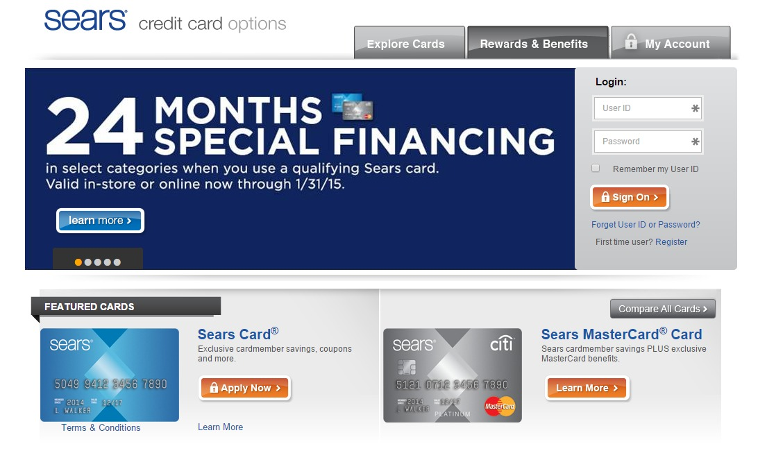 How to Make a Sears Card Payment Online