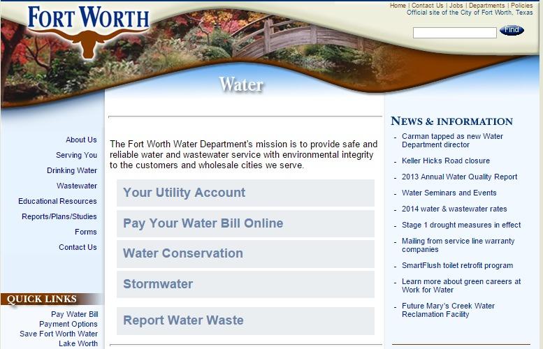 Fort Worth Water Bill 62
