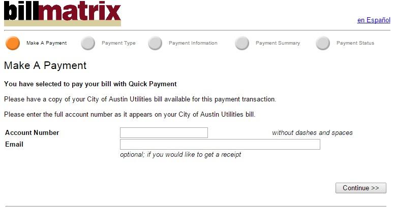 Billmatrix online bill pay
