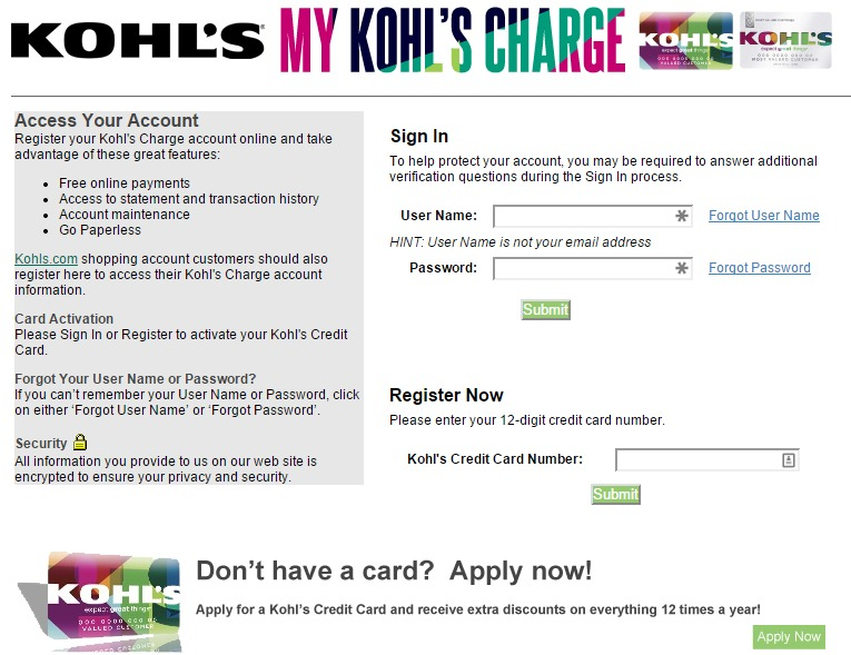Register your kohls charge accounts on the web at My Kohl's Charge to produce free of charge internet obligations throughout the Kohl's online site page at coolnupog.tk