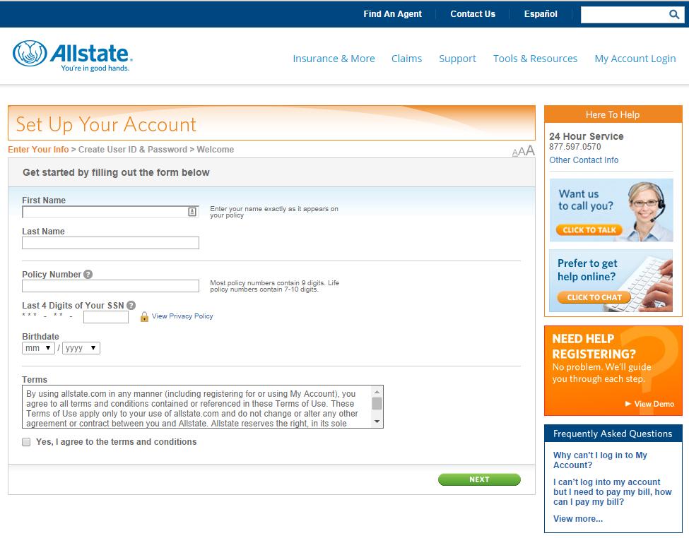 my allstate  Myaccount Allstate.Com Registration - InformerBox