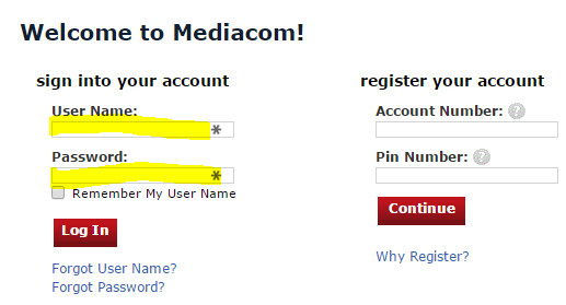 how to pay mediacom bill online